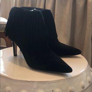 Sam Edelman Black fringe booties